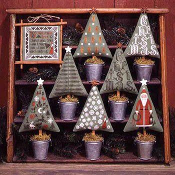 Christmas Trees Cross Stitch Chart (2nd Edition) and Free Embellishment