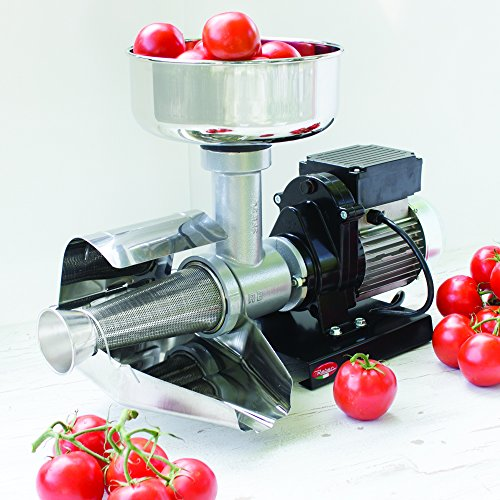Raw Rutes - Electric Tomato Strainer Machine - Made in Italy - Perfect for Canning Tomato Purees, Sauces and More! (No. 5) (Canning Machine)