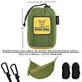 wwww Hammock for Camping - Single & Double Hammocks Gear For The Outdoors Backpacking Survival or Travel-DO Green & Khaki- DoubleOwl