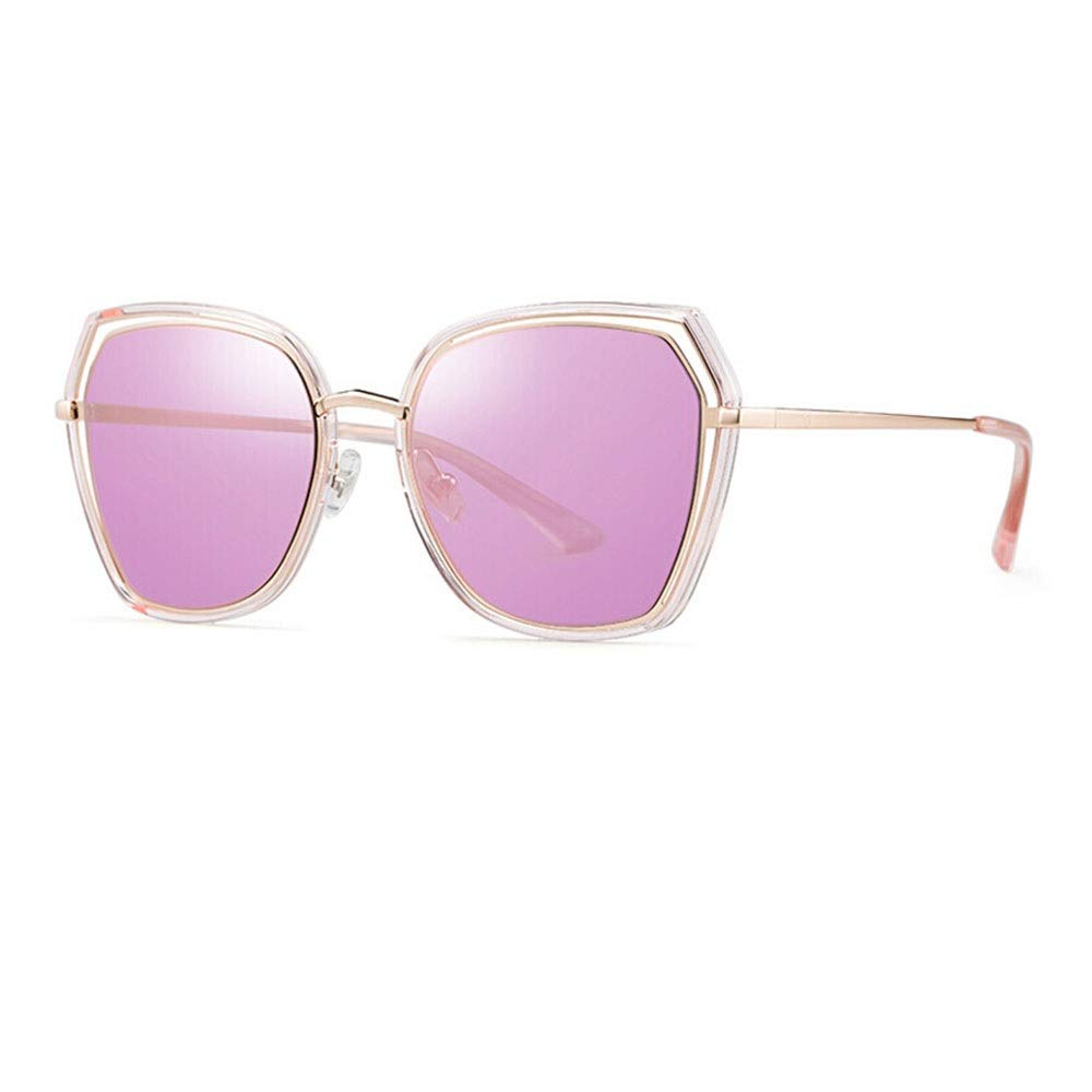 D Sunglasses, Geometric Large Frame UV Predection Polarized Ladies Shopping Street Shooting Myopia Goggles