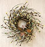 Pip and Twig with Rusty Star Wreath, 7-Inch, Coffee Bean