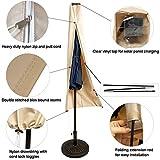 C-Hopetree Storage Cover for 7-11ft Solar LED Light Outdoor Patio Umbrella - Beige