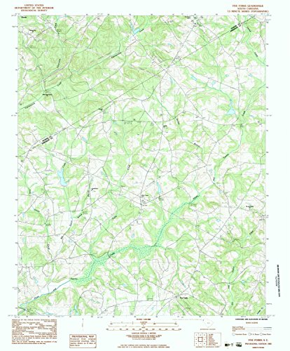 Flatland Fork (Five Forks SC topo map, 1:24000 scale, 7.5 X 7.5 Minute, Historical, 1983, updated 1983, 26.5 x 22 IN - Tyvek)