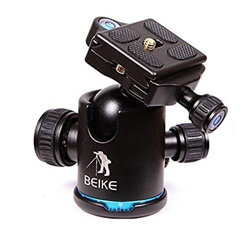 BEIKE BK-03 Camera Tripod Ball Head Ballhead with Quick Release Plate 1/4