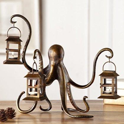 - Spi Home Octopus Lantern,Brown,13.5