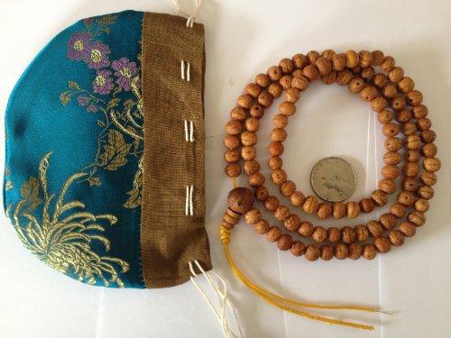 Tibetan Raktu Seed Mala 108 Beads for Meditation From Nepal BSM-120 (Bangles Jade White Gold)
