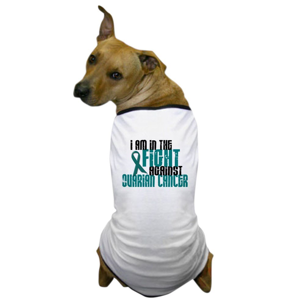 CafePress - In The Fight Against Ovarian Cancer 1 Dog T-Shirt - Dog T-Shirt, Pet Clothing, Funny Dog Costume