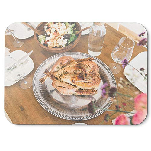 Westlake Art - Chicken Food - Mouse Pad - Non-Slip Rubber Picture Photography Home Office Computer Laptop PC Mac - 8x9 inch (D41D8)