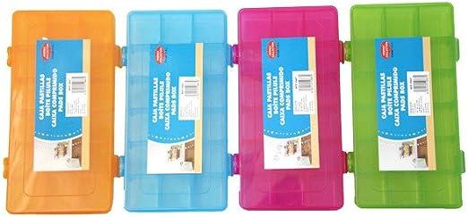 Pastillero de Colores Caja de Pastillas-Píldoras - Naranja: Amazon.es: Hogar