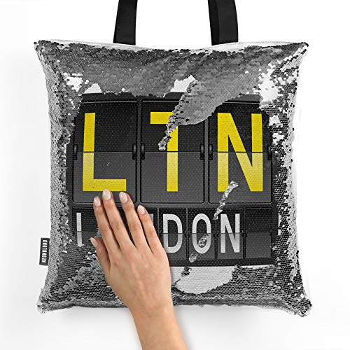 NEONBLOND Mermaid Tote Handbag LTN Airport Code for London Reversible Sequin