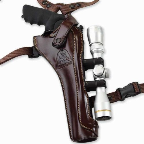 Galco Kodiak Hunter Shoulder Holster (Dark Havana Brown), 8 3/8-Inch S&W N FR .44 Model 29/629, Right Hand (Best Scope For Smith And Wesson 460)
