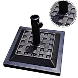 17.5'' Square Umbrella Base Stand Market Patio Standing Outdoor Living Heavy Duty