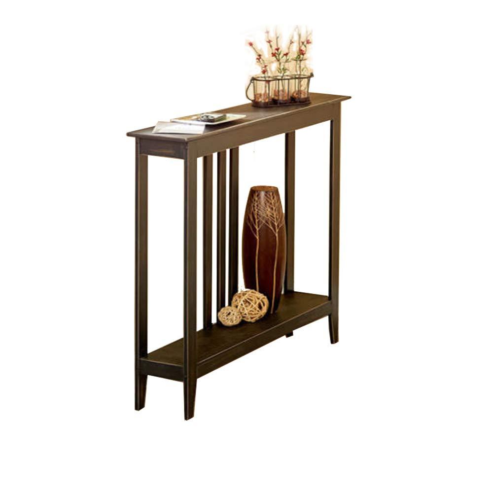 Strange Tg888 Hallway Entry Table Black Slim Space Saver Accent Wooden Narrow Sofa Storage Creativecarmelina Interior Chair Design Creativecarmelinacom