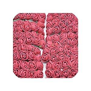 36/72/144Pcs 2Cm Decorative Teddy Bear Rose Pe Foam Artificial Flower Bouquet for Home Wedding Decoration DIY Wreath Fake Flower 10