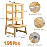 WOOD CITY Kitchen Stool Helper for Kids with