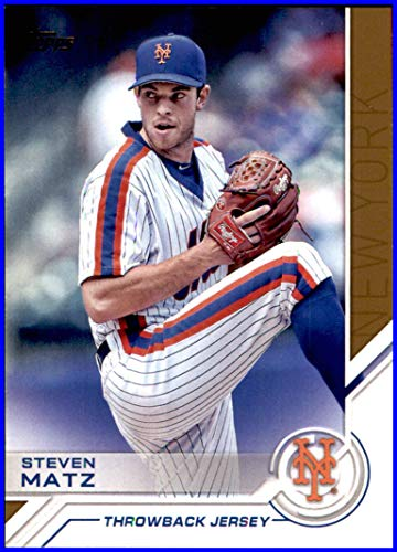 New York Mets Throwback Jersey - 2017 Topps Salute #S105 Steven Matz NEW YORK METS THROWBACK JERSEY    Baseball Card