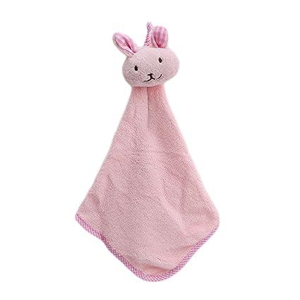 ODN dibujos animados conejo colgar Toalla dulce Kleine Toallas de mano para cocina cuarto de baño