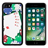 Luxlady Premium Apple iPhone 7 Aluminum Backplate Bumper Snap Case iPhone7 IMAGE ID: 24878434 royal flush combination and poker chips on the green casino table