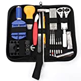 Bekith 147 PCS Watch Repair Kit Watch Back Case Opener Professional Spring Bar Tool Set, Watch Band Link Pin Tool Set with Carrying Case