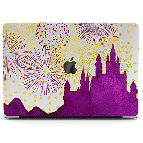 Wonder Wild Mac Retina Cover MacBook Pro 15 inch 12 11 Clear Hard Case Air 13 Apple 2019 Protective Laptop 2018 2017 2016 2015 Plastic Print Touch Bar Cute Cartoon Purple Castle Disney Fireworks Child