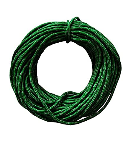 Hilarocky Highly-Visible Reflective Gear Cord Nylon Rope Fluorescent Reflective Nylon Cord Woven For High Toughness 51 Feet Tent Guy-line Rope For Camping Tent Outdoor - Rescue Throw Line