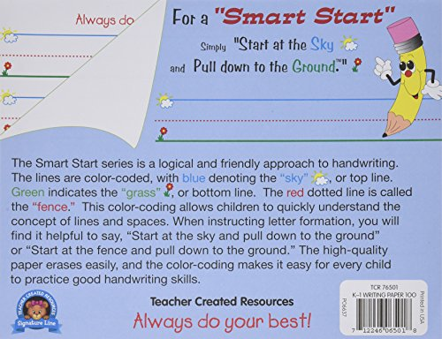 Teacher Created Resources 76501 Smart Start K-1 Writing Paper: 100 sheets by Teacher Created Resources
