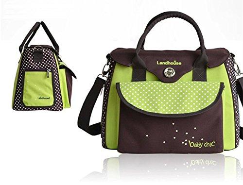 FeelGlad(TM) Multifunktionale großer Kapazität- Kinderwagen Organizer Mama Handtasche Wasserdichte Baby Windel Windel Wickeltasche Baby Reisen Tasche (type7)