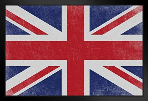 ProFrames Flags Union Jack British Union Flag Royal Union United Kingdom Distressed Textured Framed