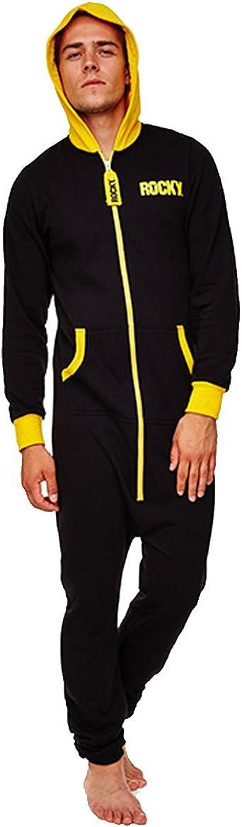 Rocky - Pijama de una pieza - para hombre Negro negro talla ...