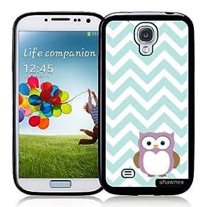 Cool Painting Galaxy S4 Case - S IV Case - Shawnex Owl Mint Chevron Samsung Galaxy i9500 Case Snap On Case