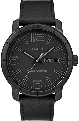 Timex TW2R64300 Black Leather Strap product image