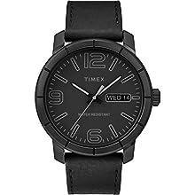 Timex Men's TW2R64300 Mod 44 Black Leather Strap Watch
