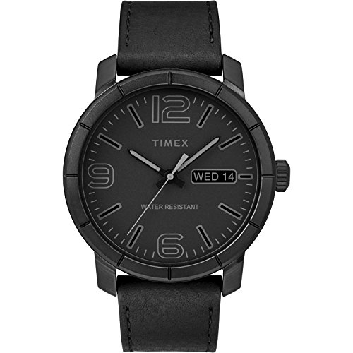Timex Men's TW2R64300 Mod 44 Black Leather Strap Watch ()