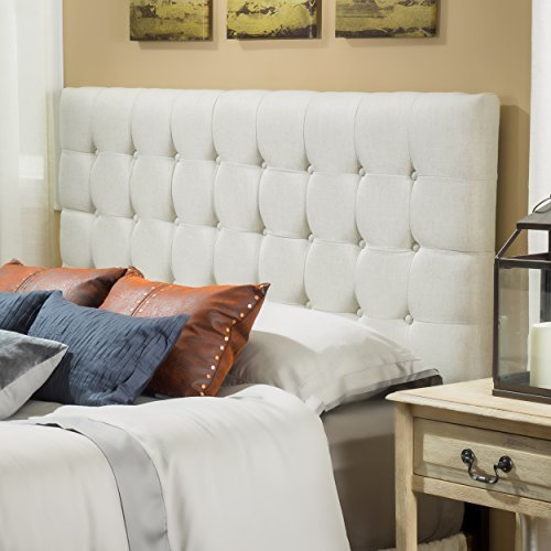 Lansing King to Cal King Adjustable Natural Tufted Fabric Headboard Review