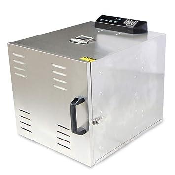 Uherhuighrtpjnbhegibib Deshidratador eléctrico de Alimentos - Temporizador Digital y Control de Temperatura - 12 bandejas de Secado - Carne Seca, Hierbas, ...