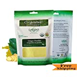 Certified Organic Pure Ginger Fresh(Just arrived) Powder-Gourmet 80g