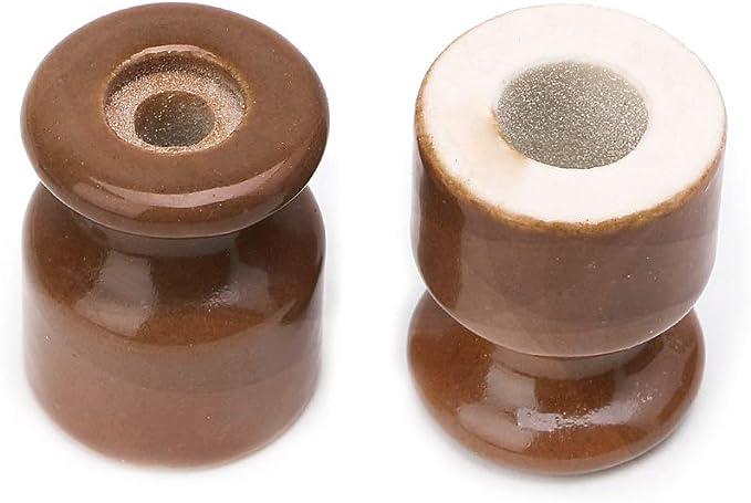 5 pcs isolateur en c/éramique Noyau//Gourde en Porcelaine Haute fr/équence - Brun YoungerY 1 Bouchon en Vrac + 1 Bouchon /à vis