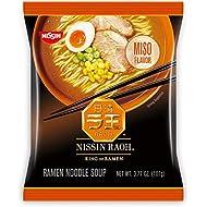 Nissin RAOH, Miso Flavor, Authentic Japanese-Style Ramen, 3.53oz. (6-Count)
