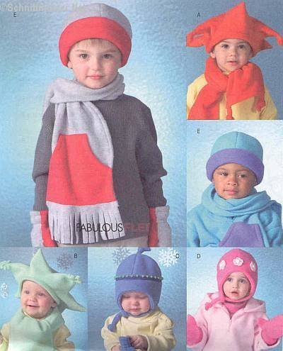McCall's Fashion Accessories Pattern M4682 Infants' and Toddler's Hats, Scarves and (Mccalls Fashion Accessories)