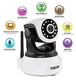 Turcom TS-620 720P, Cloud Network IP Camera, Wi-Fi, Video Monitoring, Surveillance, HD Security
