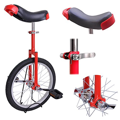 Best Review Of AW Red 18 Inch Wheel Unicycle Leakproof Butyl Tire Wheel Cycling Outdoor Sports Fitn...