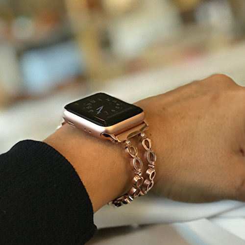 Available Series - Infinity Bangle for Apple Watch Band 38mm 42mm Stainless Steel Metal Replacement Wristband for Apple Watch Nike+, Series 3, Series 2, Series 1 More Colors Available