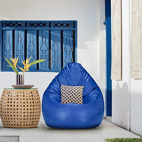 Urban Style Decore XL Bean Bag Cover Without Beans  Blue   Color