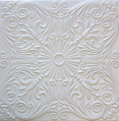 R39 White 20x20 Amazing Styrofoam Tin Look Ceiling Tiles Easy To Glue Up On Any Type Of Surface (Best Emulsion Paint Sprayer)