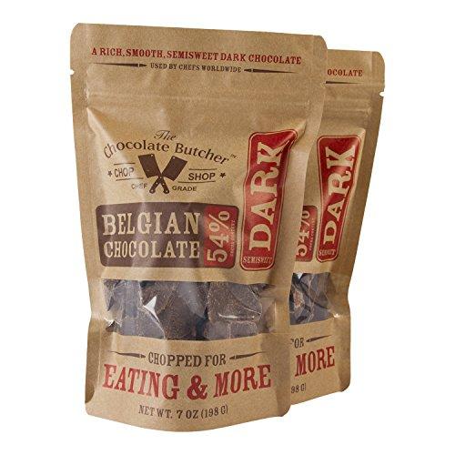 Chopped Semisweet Dark Belgian Chocolate-54% Cocoa Content