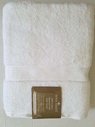 "Royal Velvet Bath Towel - Luxury Royal Velvet Signature Soft Solid Bath Towel - 30x54""- Bright White"