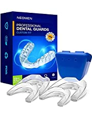 Neomen Mouth Guards for Teeth Grinding 2 Sizes, Pack of 4, Custom Fit Professional Dental Guard, New Upgraded Teeth Grinding Guard, Stops Bruxism