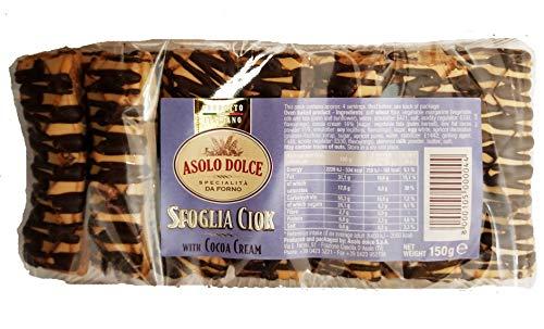 Asolo Dolce Sfoglia Ciok. Puff Pastry with Cocoa Cream. 1 Pack (14 Count). Italian Product. ()