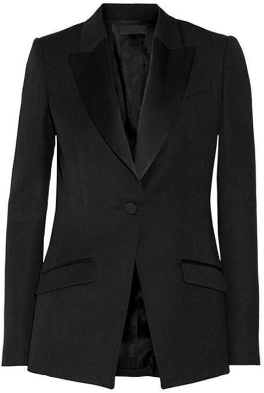 Amazon.com: Para mujer solapa de pico trajes de negocios 2 ...
