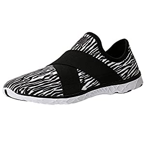 Aleader Women's Slip On Water Hiking Shoes Black 8.5 D(M) US